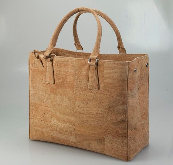 Brand New Luxury Cork Handbag Line by QUEORK on Etsy, $139.00 ---this is so cool --cork!