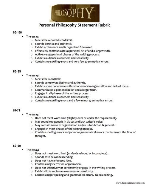 Thesis Statement In A Narrative Essay The Most Important Essay For High School Seniors The Personal Philosophy  Statement  Teachwritingorg Science Technology Essay also Apa Format For Essay Paper The Most Important Essay For High School Seniors The Personal  Into The Wild Essay Thesis
