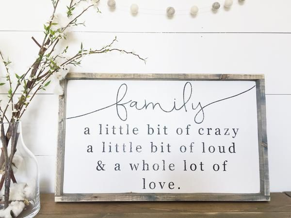 I chose to use this sign because Family is important to me and even though the writing is 2 Dimensional it has meaning that can inspire the people who visit my living room. It also is part of my rustic farmhouse design.