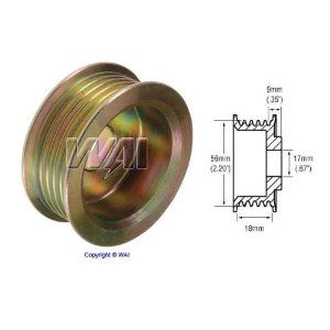 18mm Belt x 56mm Rib OD x 17mm Bore Pulley 5 groove Denso Alternator - 79909020 by Maniac EM. $9.99. 18mm Belt x 56mm Rib OD x 17mm Bore Pulley 5 groove Denso Alternator - 79909020 // Pulley for these alternators : 100211-6310, 100211-6320, 100211-6450, 100211-7230, 100211-7780, 100211-8010, 100211-8050, 100211-8070, 100211-8230, 100211-8320, 100211-8321, 100211-8560, 100211-8660, 100211-8810, 100211-8820, 100211-8990, 100211-8991, 101211-5010, 101211-5080, 101211-5090, 1012...
