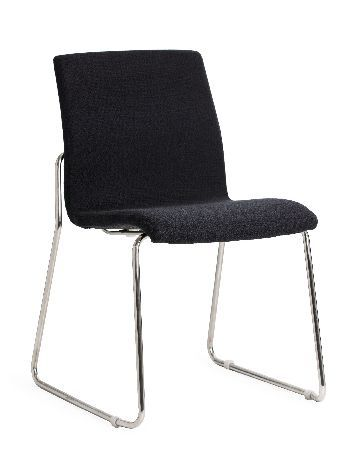 The Design Sled's super sleek slim-line styling creates a practical Visitor chair suited to commercial and residential use. It features a fine thin stainless steel tube frame and can be upholstered in your choice of fabric #seated #visitor #chair #budget seated.com.au