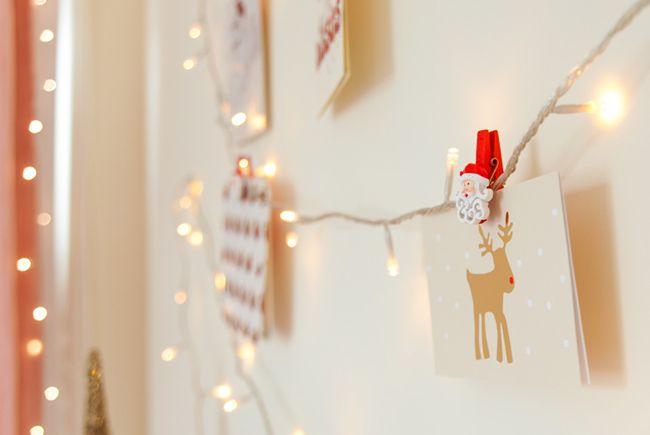 Fairy Light Christmas Card Holder Holidays Pinterest