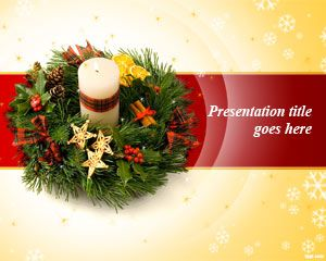 Free Christmas Wreath PowerPoint template is a treat for the holiday season #Christmas #PowerPoint #templates #backgrounds