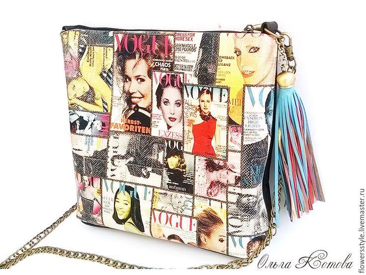 Купить Женская кожаная сумка с кисточкой Ретро Vogue - черный, сумка женская