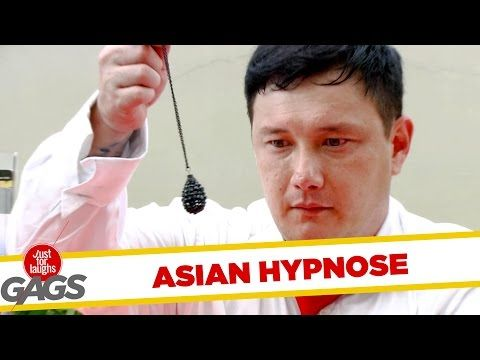 Receptionist Hypnotizes Himself - JFL Gags Asia Edition - YouTube