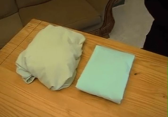 How To Fold A Fitted Sheet  http://www.simplemost.com/learn-how-to-fold-fitted-sheet/