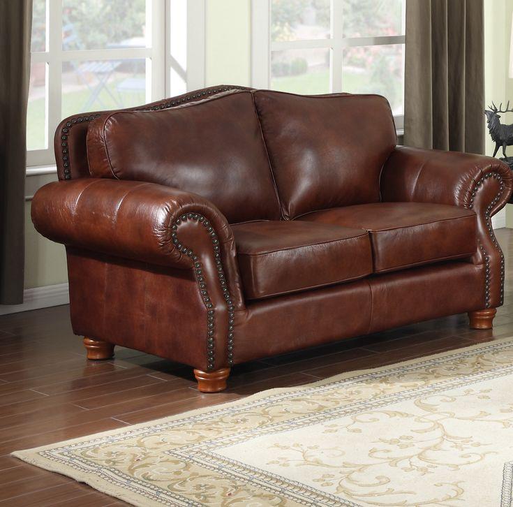 Best Battista Premium Leather Loveseat Leather Loveseat 400 x 300