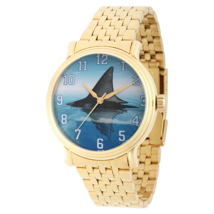 Men's Discovery Channel Shark Week Gold Vintage Alloy Watch - Gold