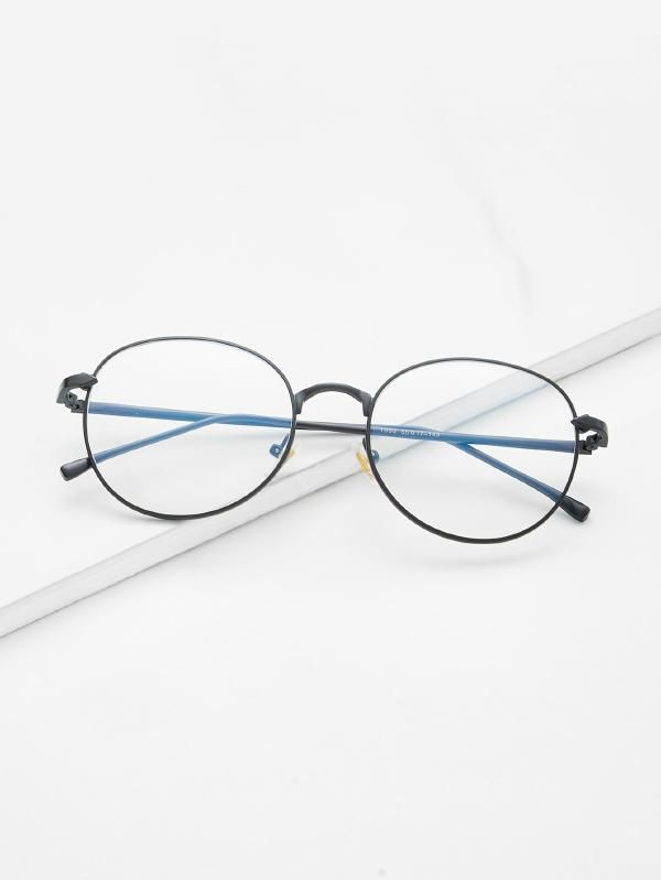 56c662ed1fb0 Metal Frame Clear Lens Glasses -SheIn(Sheinside)