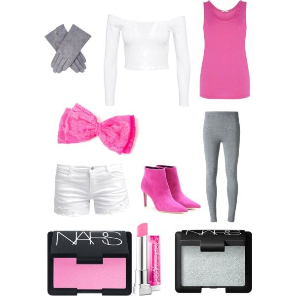 Fnaf2 mangle inspired outfit by kinseyalexander04 on Polyvore featuring polyvore, fashion, style, Oasis, T By Alexander Wang, ONLY, claire's, Maybelline, NARS Cosmetics and Balenciaga
