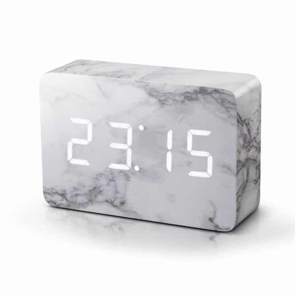 I love the idea, you dont forget Brick Marble Click Clock | Gingko Electronics | Wolf & Badger
