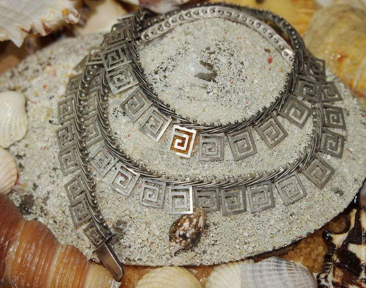 КОЛЬЕ – ЦЕПОЧКА украшение на шею «МЕАНДР» Франция Винтаж.