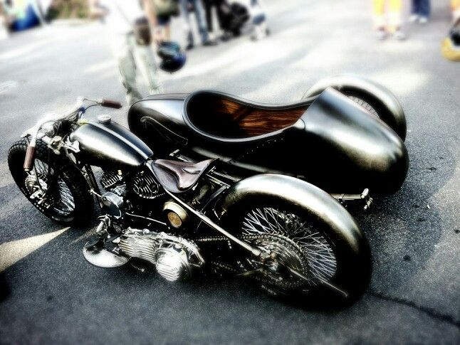#sidecar #custom #Harley