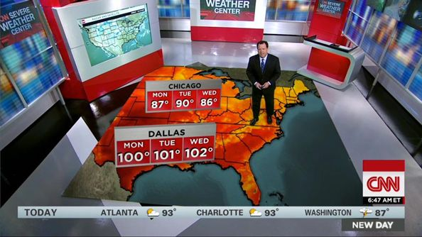 CNN debuts new weather center with chroma key floor - NewscastStudio