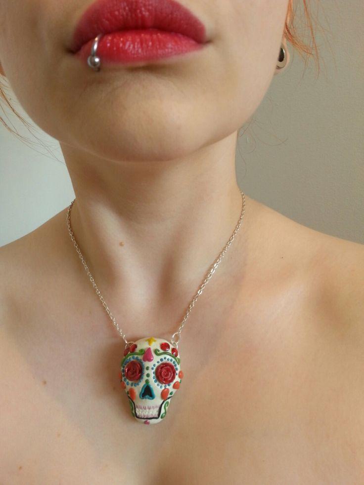 Sugar Skull  Dia de los muertos  day of the dead by HeyKitschKitty, £18.00