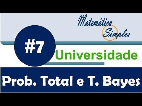 Aula 7 Ensino Universitário- Teorema da Probabilidade Total e Regra de Bayes