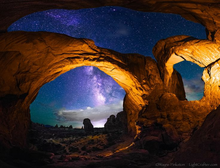 Photo Double Arch Panorama, Arches National Park by Wayne Pinkston on 500px
