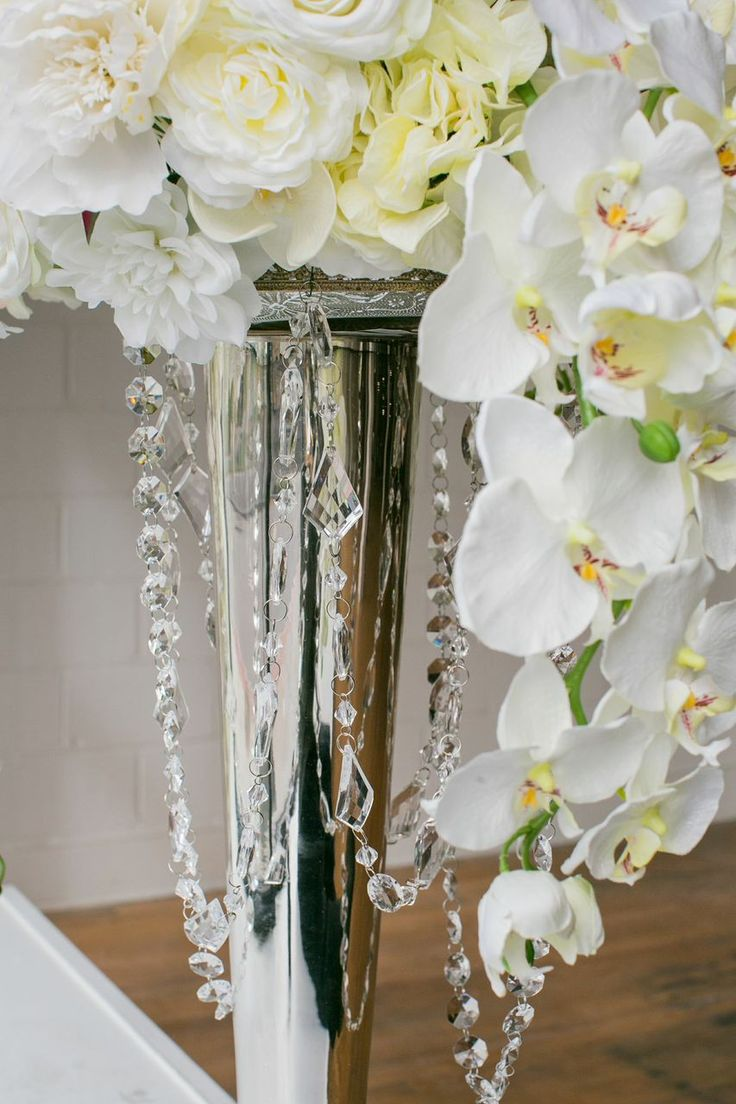 make your own wedding flower centerpieces%0A Faux flowers and crystals  Create an incredible floral arrangement with  faux flowers  Stay on