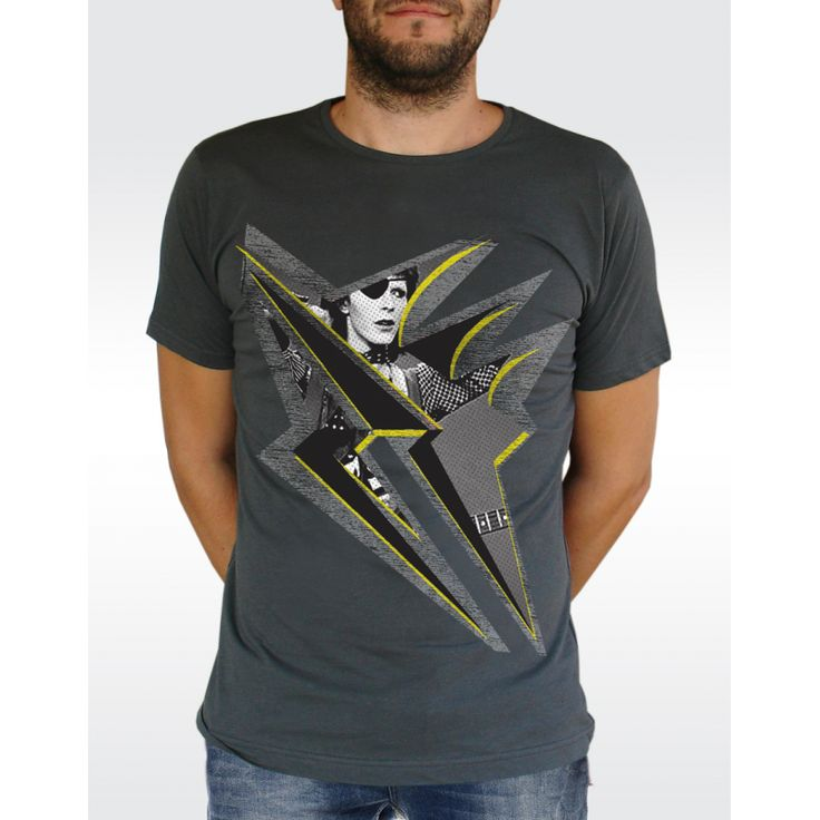 M24 BOWIE LIGHTNING T-shirt Men's Fine Jersey T-shirt Available in 3 colours
