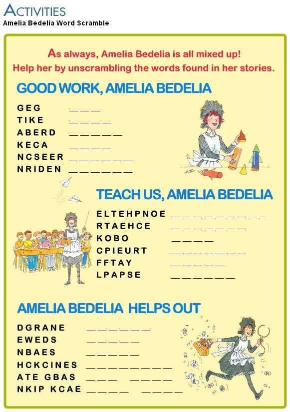 17 Best ideas about Amelia Bedelia on Pinterest | Cause and effect ...