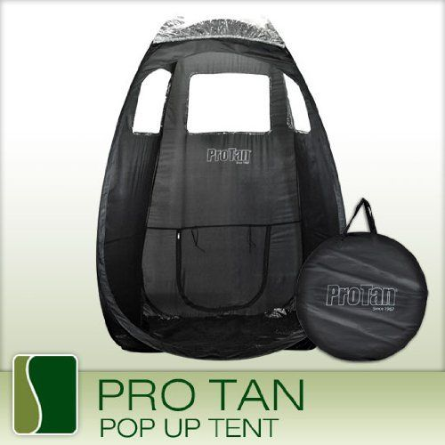 Pro Tan Black POP UP Tent Airbrush Sunless Spray Tanning Mobile Portable Booth by Pro Tan. Save 29 Off!. $69.99. Pro Tan Professional Pop-Up Airbrush Spray TentIdeal for individuals on the go or who spray out of their home or spa. This spacious tent weighs only 5 lbs! It features clear windows to allow maximum lighting for best tanning results. Made of heavy vinyl, stain and water resistant. Complete with a nylon carrying bag with straps and a transparent roof covering to add e...
