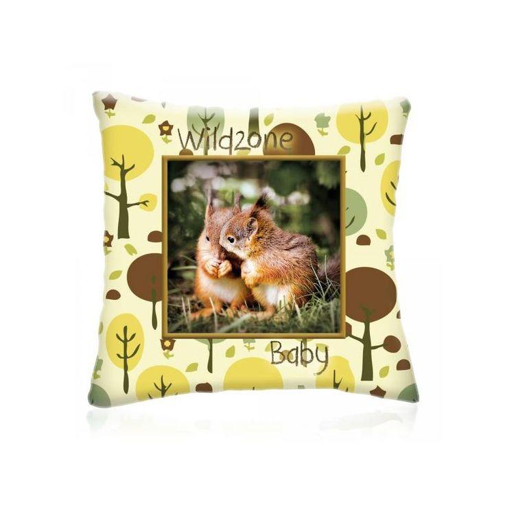 WILD ZONE Baby MÓKUSOK állatos díszpárna 28x28 cm - Díszpárna.com Webáruház