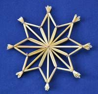 Tutorial for weaving wheat stars