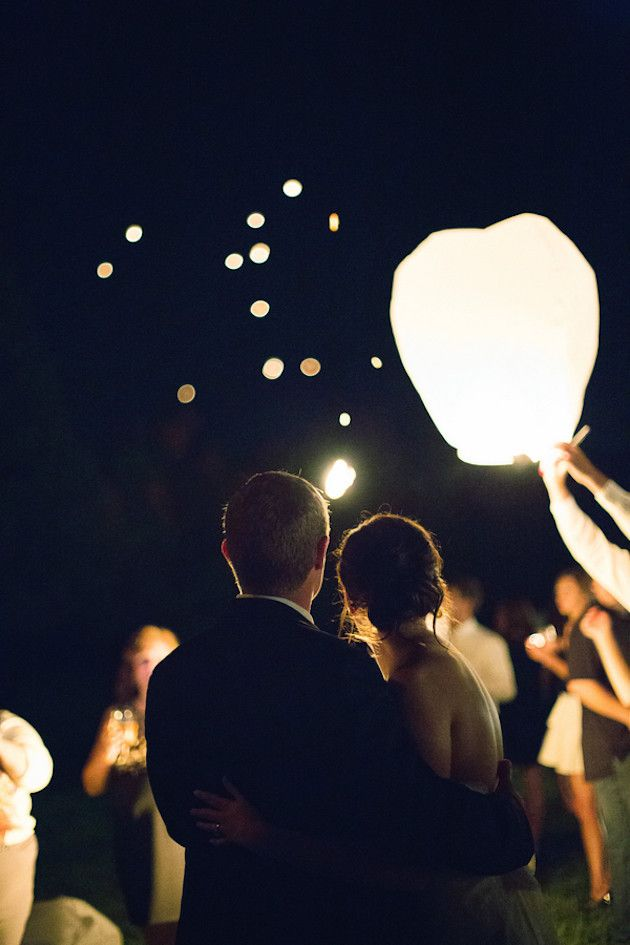 Sky lanterns - each wedding guest lights one and makes a wish for the newlyweds