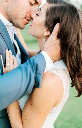 Pastel Vineyard Engagement with a stunning emerald cut ring! - Inspired By This