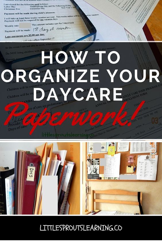 How do you keep all of your daycare paperwork organized?