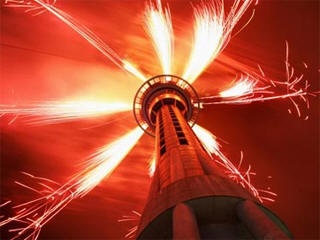 Auckland Sky Tower New Years Eve fireworks live stream