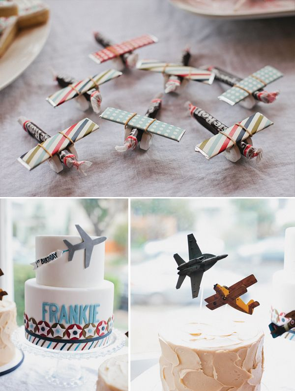 Love the candy air planes: a toostie roll 2 life savers, a stick of gum and a rubber band! How easy is that to make!