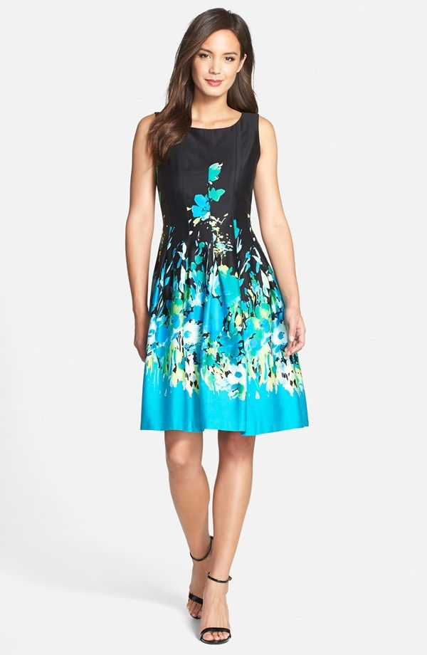 Chetta B Floral Fit And Flare Dress