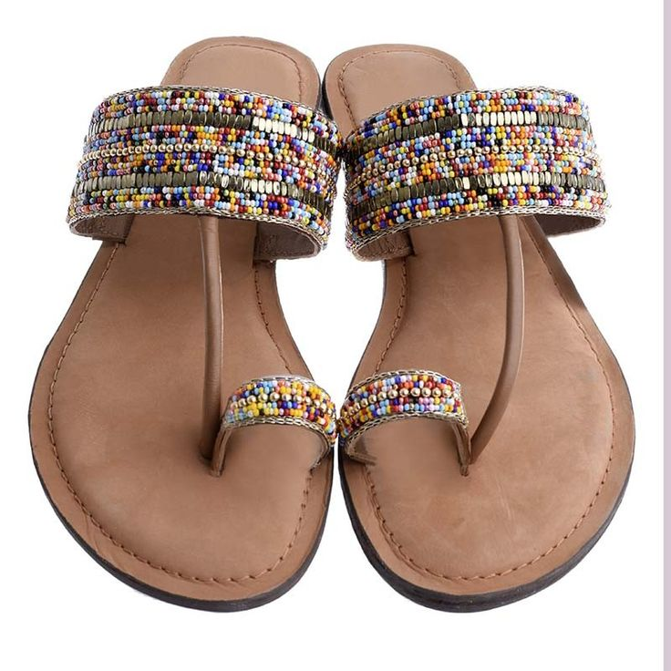 LEATHER COLORFUL SANDAL - Sandals