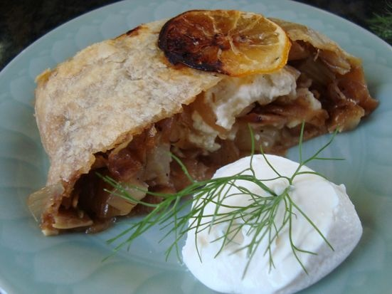 Caramelized Fennel and Onions with Feta in a Puff Pastry Log recipe ...