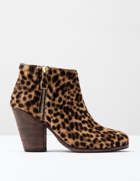 Zip High Heel Boot AZ232 Boots at Boden
