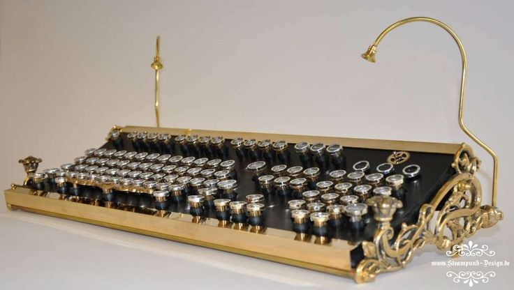 This is beautiful! I would love to make or get my hands on one of these! #DIY #Steampunk Keyboard