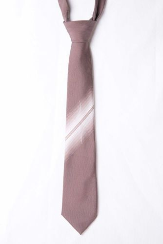Vintage-St-Michael-Brown-White-Striped-Patterned-Mens-Tie-Made-in-UK