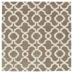 Revolution Light Brown 11 ft. 9 in. x 11 ft. 9 in. Square Area Rug, Lt. Brown