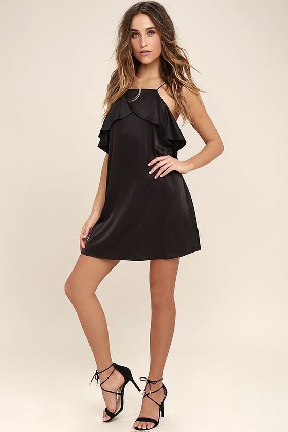 1000  ideas about Black Satin Dress on Pinterest | Black satin ...