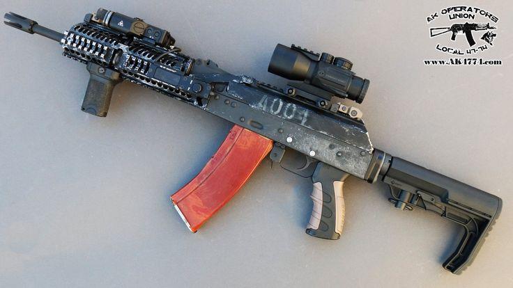 AK with Battlelink Minimalist stock (available gunfire.pl)