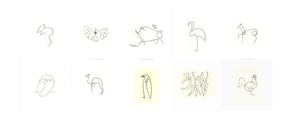 Tattoo Line Drawing Software : Artrepublic article the line drawings of pablo picasso