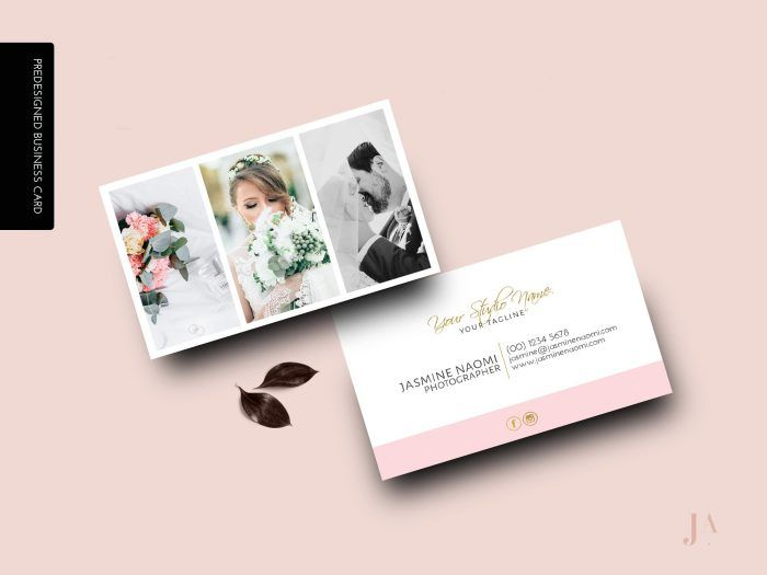 Show Off Your Work And Add Photos To Your Business Cards Junebug Wedding Wedding Photography Business Card Wedding Photography Business Wedding Business Card