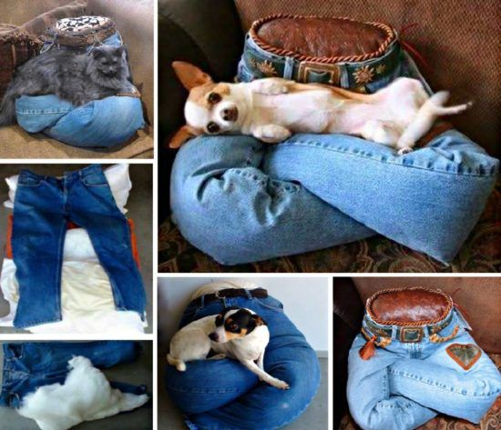 Pet Lap Pillow Is Made From Your Denim Jeans | The WHOot