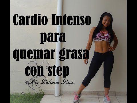 Cardio intenso para quemar grasa - Cardio Hiit con step (Rutina 271) - Dey Palencia Reyes - YouTube