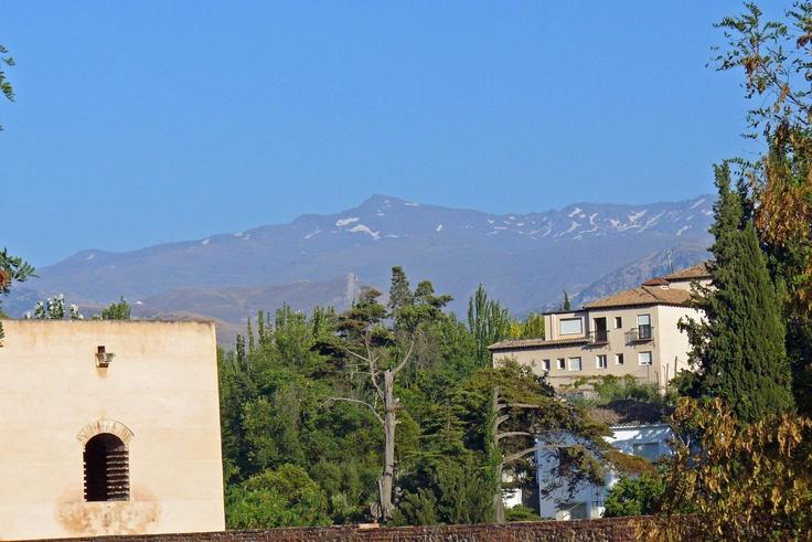 View of the Sierra Nevada, Granada, Spain