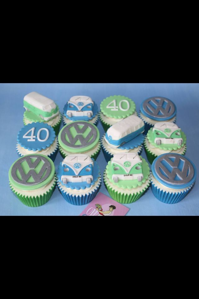 VW campervan 40th birthday cupcakes x