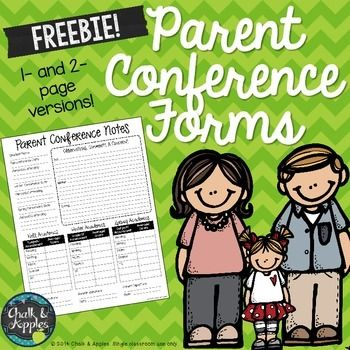 Parent Conference Forms to organize your thoughts! If you're anything like me, parent conference day can be stressful! Prepare for the big day with this freebie! Two parent conference forms are included, a one-page quick form and a two-page more detailed version. Space is provided for behavioral observations & concerns, current grades and scores on school-side assessments, and interventions/suggestions for improvement.