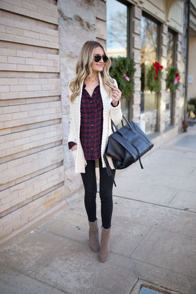 Cable Knit White Cardigan