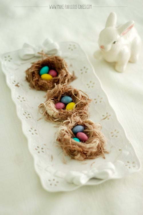 Easter Cake: Buttercream Blossoms and Bird's Nest by Make Fabulous Cakes